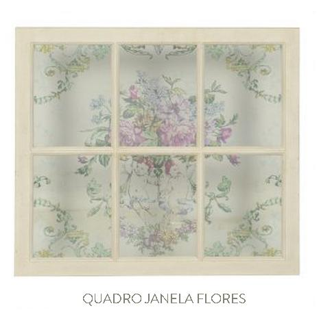 quadro janela flores